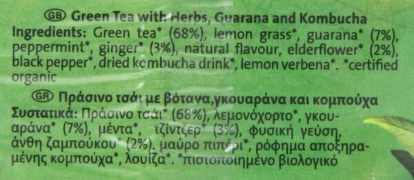 Green Energy Yogi Tea – Box of 17 Bags