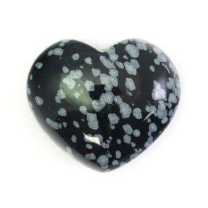 Snowflake Obsidian Crystal Heart