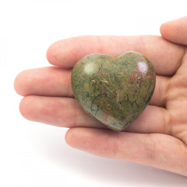 Unakite Crystal Heart - 4cm (Alignment, Healing, Perseverance)