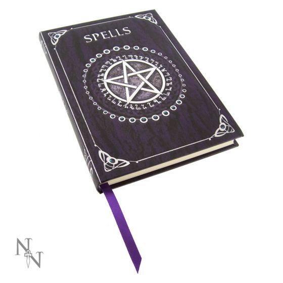 Embossed Pentagram Spell Book Purple