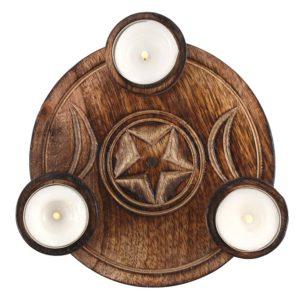 Triple Moon Tealight Candle Holder