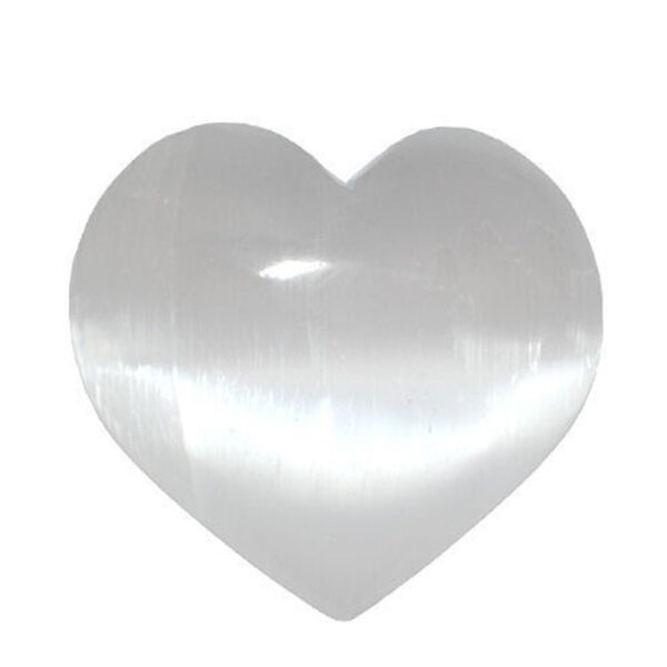 Selenite Heart - 6-7 cm (Cleansing, Clearing, Connection)