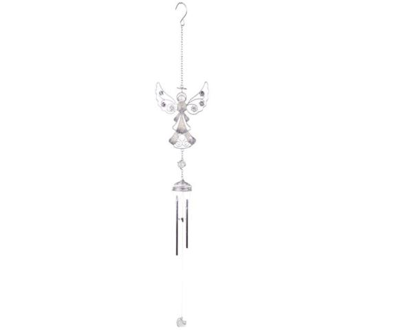 Silver Angel Windchime - Design 2