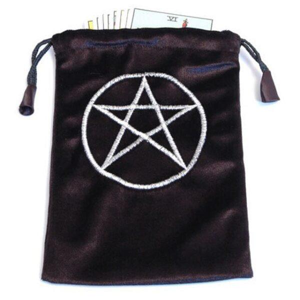 Black Velvet Tarot/Oracle Card Bag - Pentagram Symbol