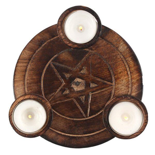 Pentagram Tealight Candle Holder