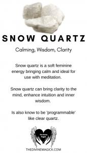 Snow Quartz Crystal Meaning Card