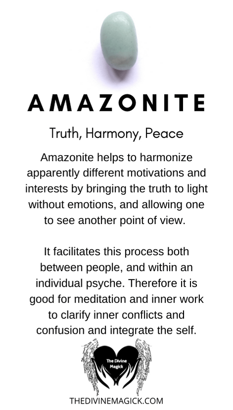 Amazonite Crystal Meaning Card