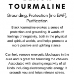 Black Tourmaline Crystal Meaning Card