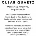 Clear Quartz Crystal Meaning Card