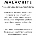Malachite Crystal Meaning Card