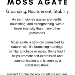Moss Agate Crystal Meaning Card
