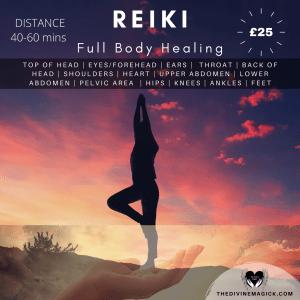 Full Body Reiki Session - Distance (40-60 mins)