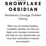 Snowflake Obsidian Crystal Meaning Card