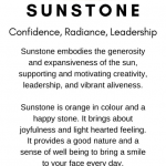 Sunstone Crystal Meaning Card