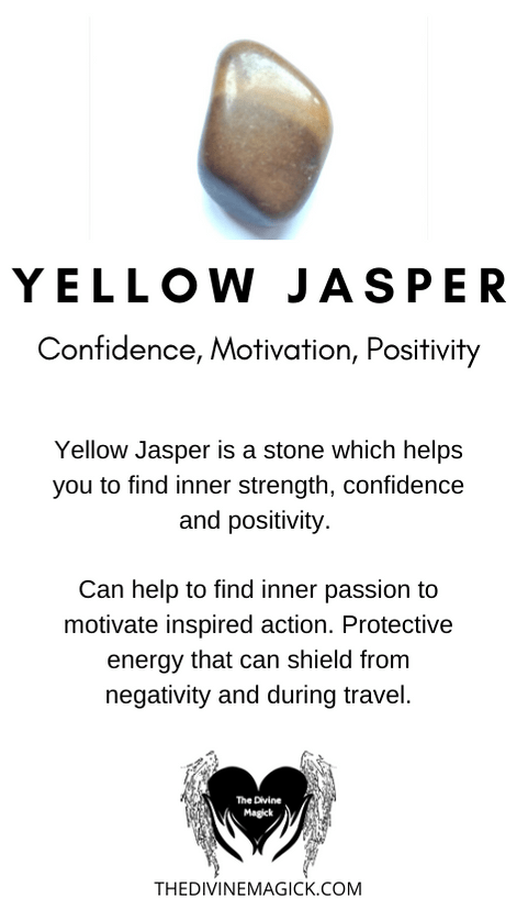 Yellow Jasper Crystal Meaning Card