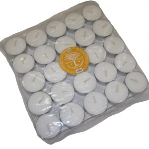 Earth Elements  White Tealights  (Bag of 50)