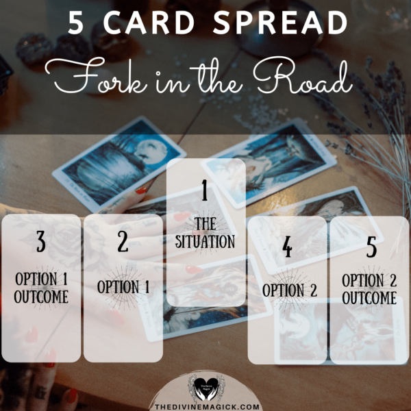 5 Card Spread | Intuitive Card Reading (Email) - 'Fork in the Road'