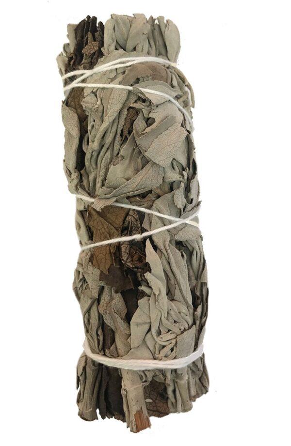 California White Sage and Yerba Santa Smudge Stick 3 to 4 inch