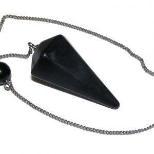 Black Obsidian Faceted Pendulum