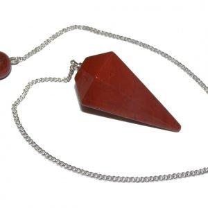 Red Jasper Faceted Pendulum
